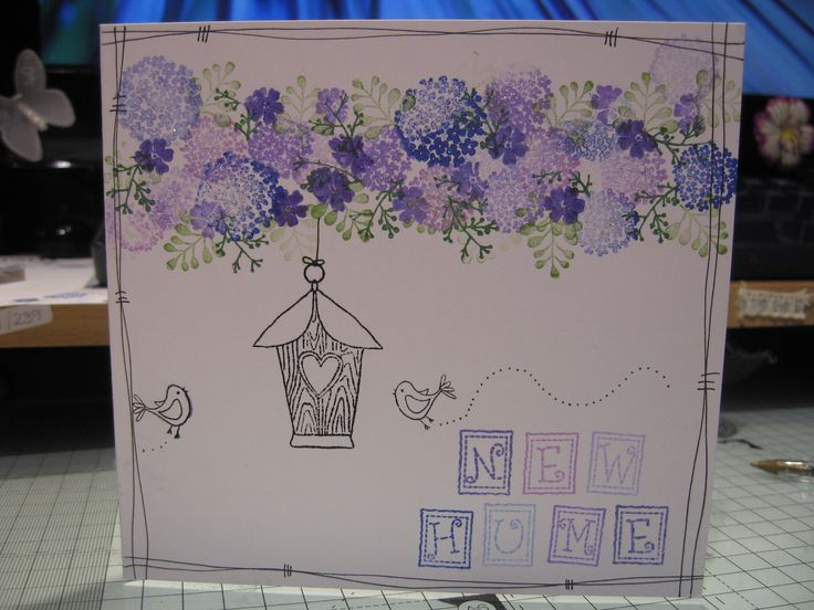 New Home card using Card-io and Inky Doodle stamps