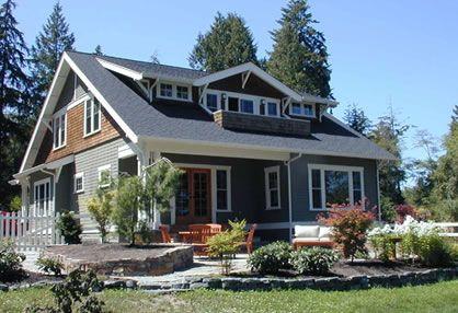 Craftsman Bungalow- Plan # CG-004. Designed by: Christian Gladieux. 2500 sq ft. 3 Bed, 2.5 Bath.