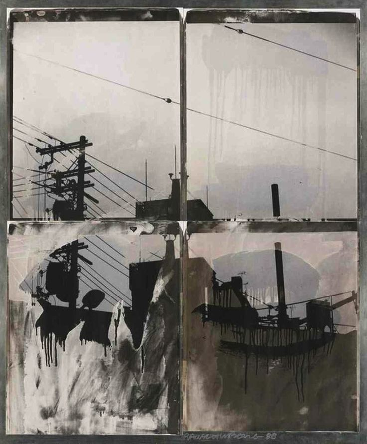 "Japanese Sky I"" , from the 'Bleacher Series' Unique large-format Polapan print, 1988  Robert Rauschenberg"