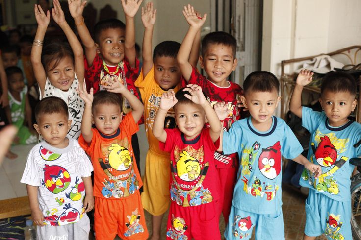 The cute kids from the Sunrise Children's Villages orphanages in Cambodia.  Photo taken during one of our visits in 2012