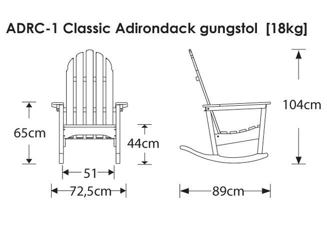 Gungstol Classic Adirondack - Polywood®