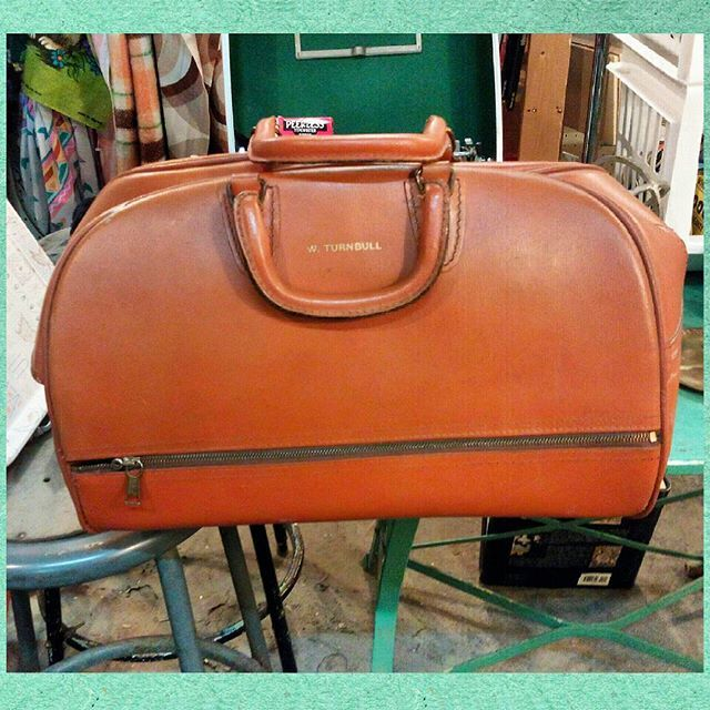 Vintage leather doctors bag.