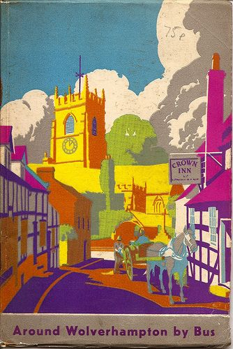 Wolverhampton Corporation Transport guide book cover, Claverley, Staffordshire - 1939 by mikeyashworth, via Flickr