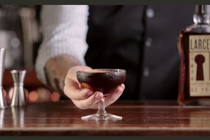 Prospector: This bourbon and amaro cocktail is exquisitely paired with sherry and Angostura bitters, and can be served warm or cold.