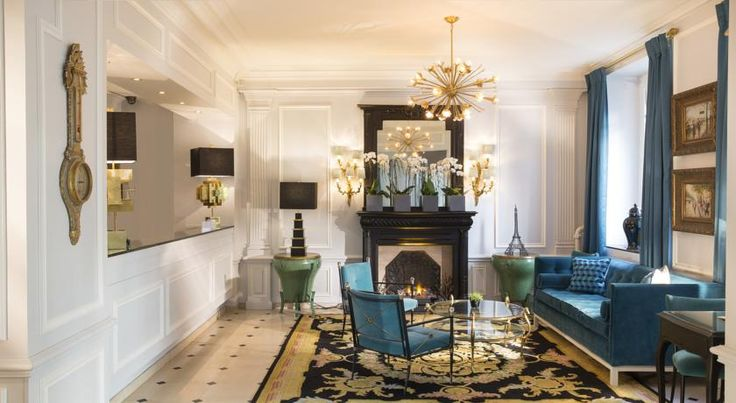 Hotel West-End Paris This luxurious boutique hotel is located in the heart of Paris, next to Avenue de Champs-Elysées. It has a stylishly decor and is uniquely furnished.