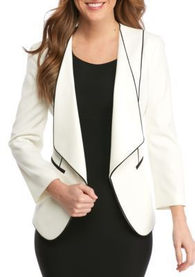 Nine West LilyBlack Wing Collar Jacket