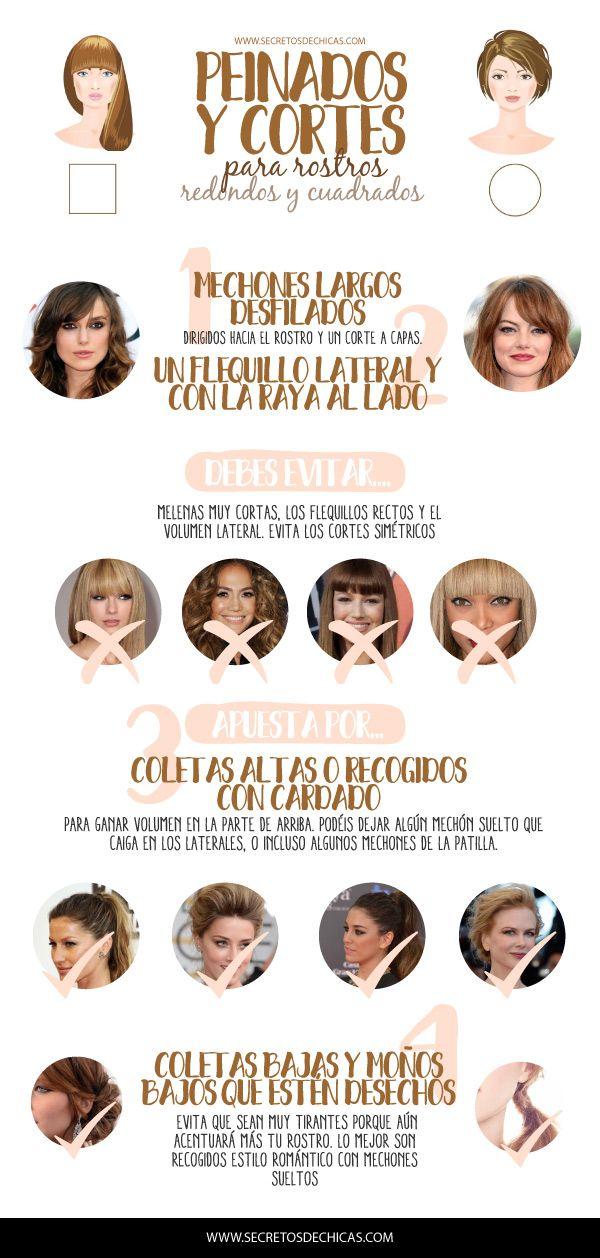 Peinados y cortes que favorecen a los rostros redondos y cuadrados. ¿Cuál es el más adecuado? Si tenéis el rostro de este tipo no os perdáis el post.