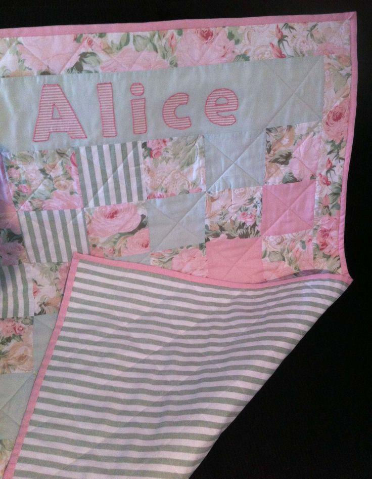 Custom order for baby named Alice.