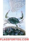 Crab Net Garden Flag
