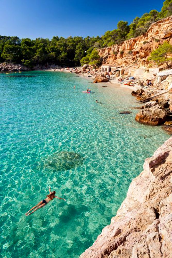 top honeymoon place girl swims ibiza