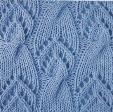 lace and cable knitting pattern