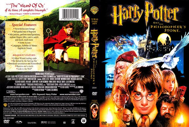 Harry Potter And The Philosopher S Stone Dvd Cover In 2021 Dvd Covers Harry Potter Dvd
