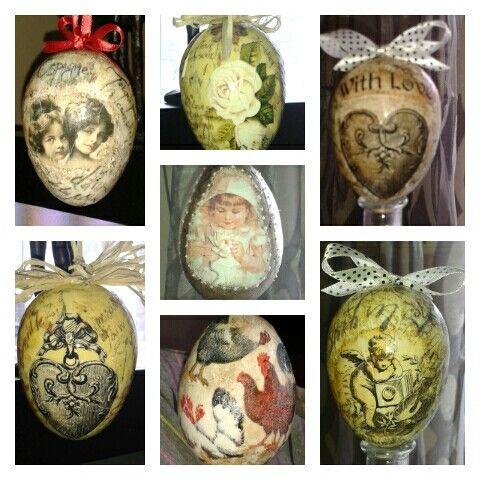 Decoupage ;)eggs