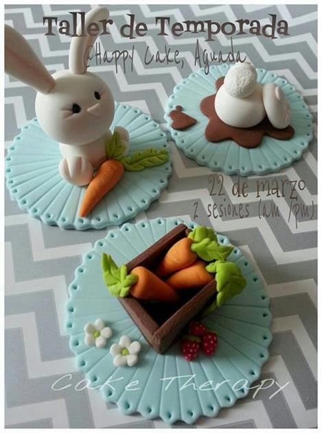 Cupcake konijn met worteltjes