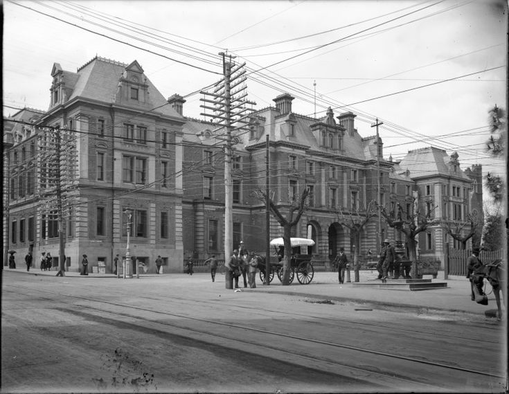 State Treasury building and General Post Office, St. George's Terrace, Perth, 1907. http://purl.slwa.wa.gov.au/slwa_b1775050_1