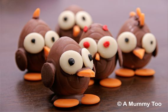 How to make these easy chocolate chicks for Easter - fun craft for kids
