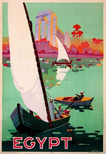 A lovely vintage travel poster for Egypt. #vintage #travel #posters