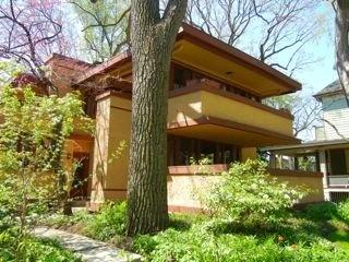 Laura Gale House. Frank Lloyd Wright. 1909. Prairie Style. Oak Park, Illinois.
