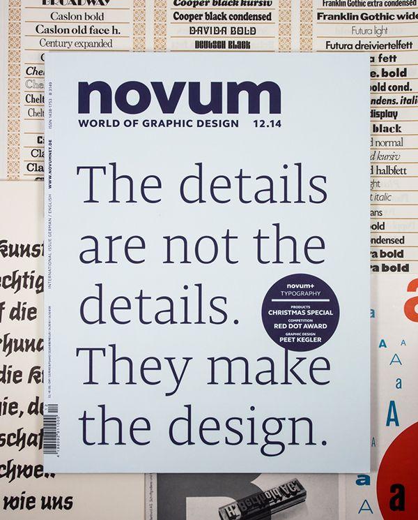 Novum, magazine, cover, type, typography, details, serif, gebrauchsgraphik, in Type