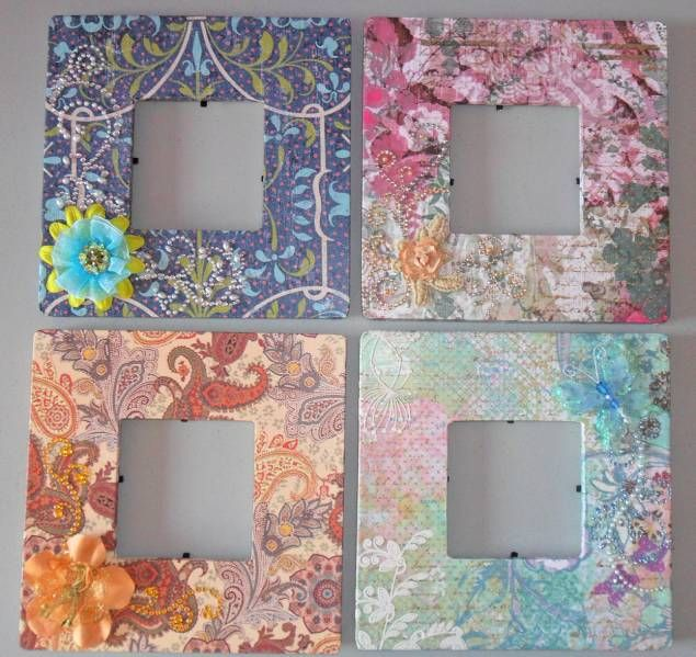 Altered Frames set# 1 by Ioana - Cards and Paper Crafts at Splitcoaststampers