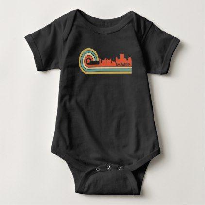 Retro Style Jefferson City Missouri Skyline Baby Bodysuit - retro clothing outfits vintage style custom