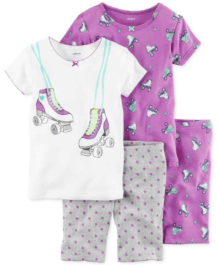 Carter's 4-Pc. Roller Skates Cotton Pajama Set, Toddler Girls (2T-5T)