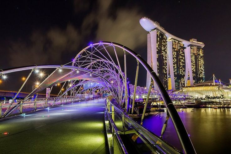 Helix bridge, Marina Bay, Singapore  I Would like to see this some day...