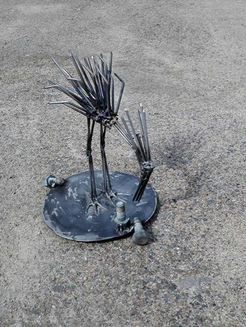 """""""Nokku"""" 05/2015 The nailbird, scrap metal art"""