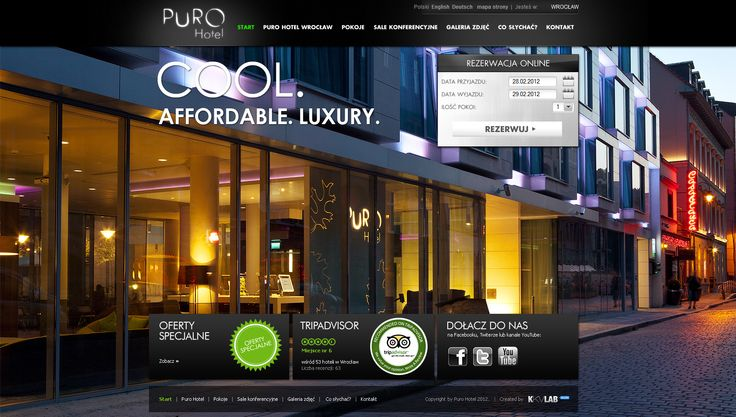 UX Design for PURO Hotel #UX #UI #GUI #Webdesign