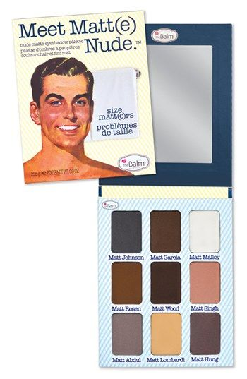 I need need need this palette!!!  theBalm 'Meet Matte' Nude Eyeshadow Palette available at #Nordstrom