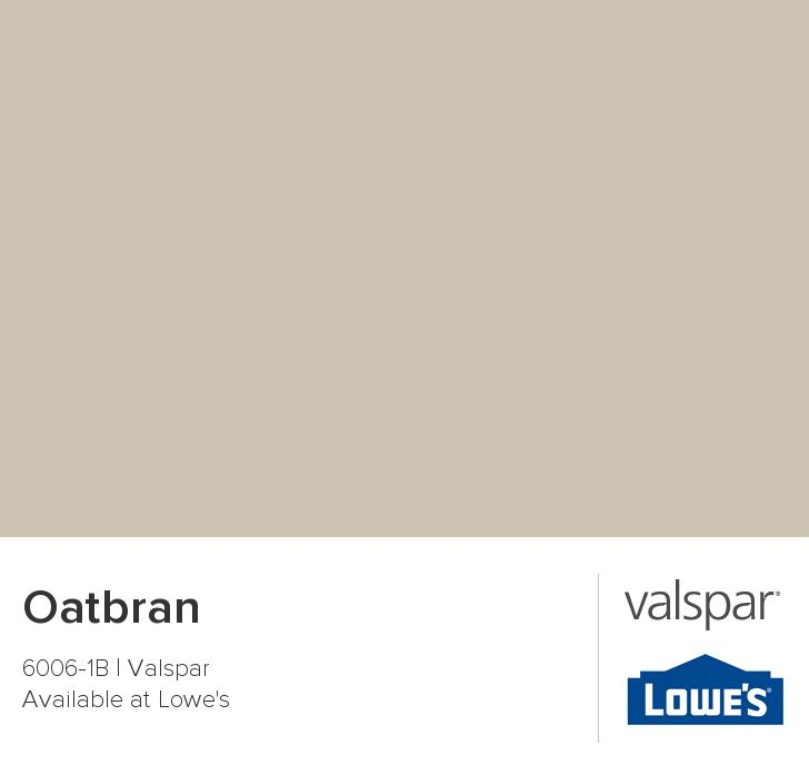 Valspar Paint - Color Chip - Oatbran