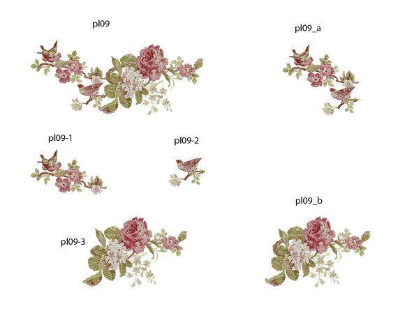 Roses Birds Flowers Six designs Machine от EMBROLANDnet на Etsy