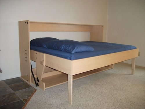 17 best images about hidden bed desk on pinterest models space saving beds and twin xl - Beds for small space model ...