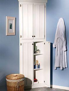 How to Build a Corner Linen Cabinet. DIYadvice