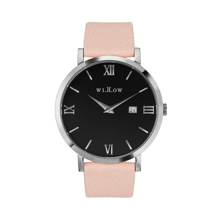 Treviso Silver Watch & Interchangeable Rose Vegan Strap.