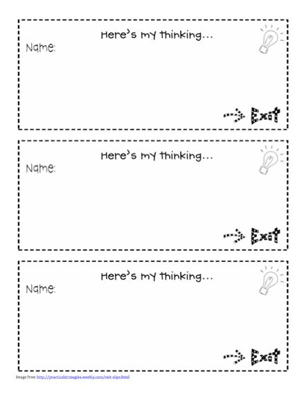 89 Best Exit Slips Images On Pinterest | Teaching Ideas, Exit