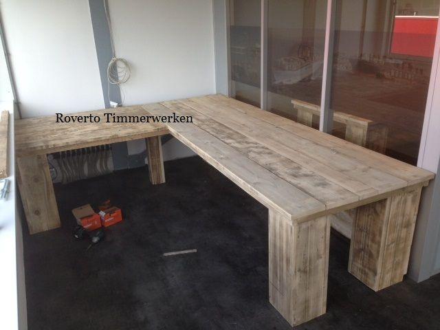 Bureau steigerhout google zoeken inrichting woonkamer for Steigerhout bureau