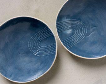 Black Serving Bowls, Small Ceramic Bowls, Ceramic Serving Tray, Appetizer Plate, Breakfast Bowl, Pasta Bowl,Modern black Dish,Stoneware Modern black