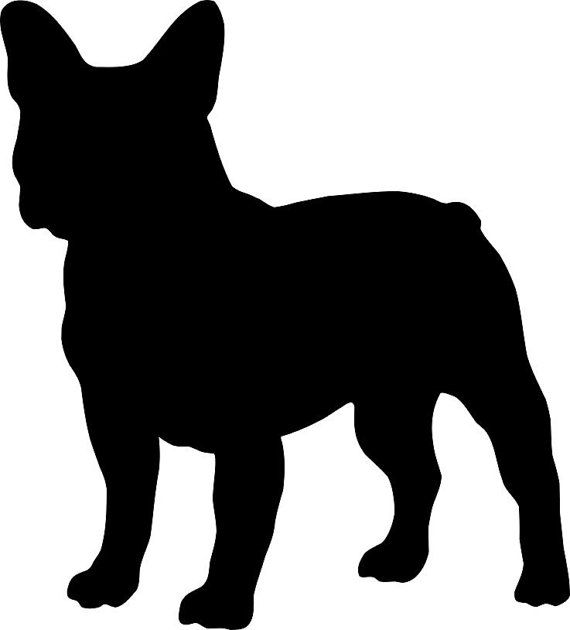 10 Inch FRENCH BULLDOG Vinyl Dog Decal by TheArtsySeashell on Etsy, $6.50