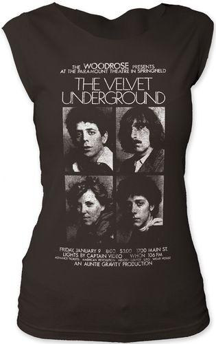 Velvet Underground Vintage Concert T-shirt - The Velvet Underground at the Paramount Theatre in Springfield. Women's Black Sleeveless T-shirt