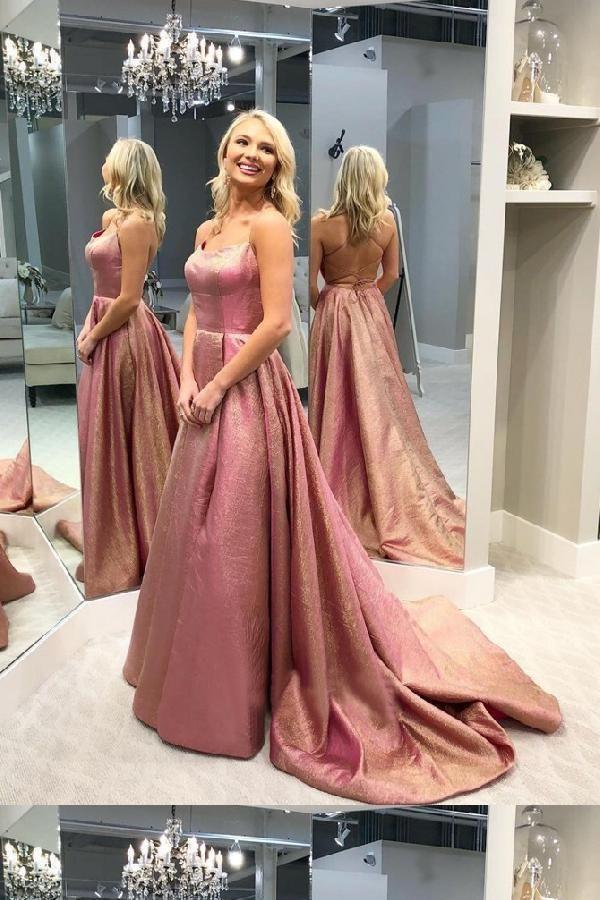 Backless Prom Dress Backlesspromdress Prom Dress A Line Promdressaline Prom Dress Pink Promdress Pink Prom Dress Backless Prom Dresses Prom Dresses Modest
