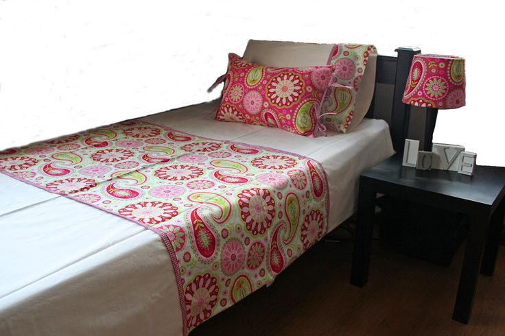 """Paisley Jane"" Duvet sets made to order for single or 3/4 beds - made by Tula-tu Baby Linen"