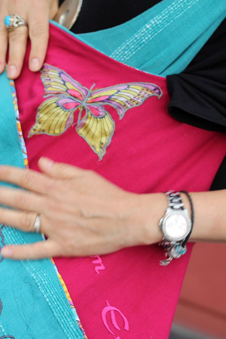 bag BOHO EVE, casual bag, embroidered, butterfly motive