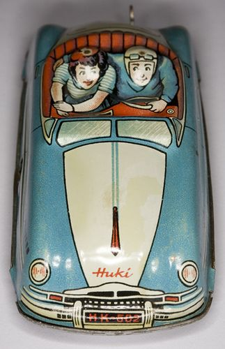 Huki toy car.  I would love this on my Christmas Tree!