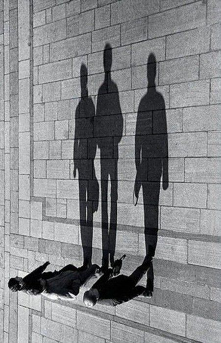 Black & White street photography, people, hard shadows