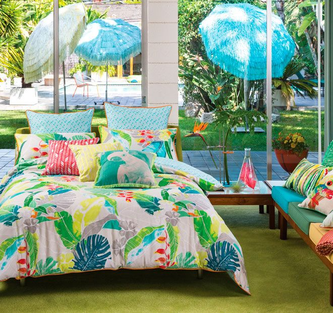 Zia Multi KAS  Features: Cotton Sateen 300 thread count Printed front and reverse Piping detail - #quiltcovers