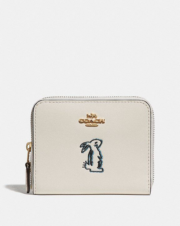 f0c0a36c7f69 Coach Selena Small Zip Around Wallet With Bunny