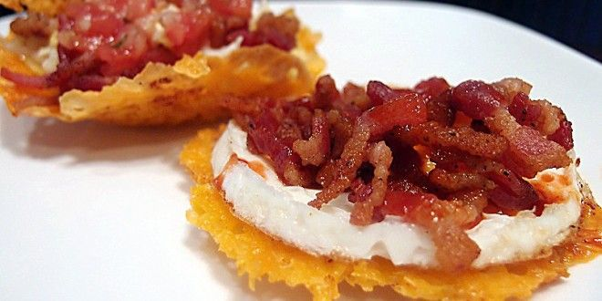 Egg and Bacon Cheese Baskets (made on 6/12/14 and many times since. A great go-to snack or light meal. Also made without the egg, the result is reminiscent of 'potato skins'.)