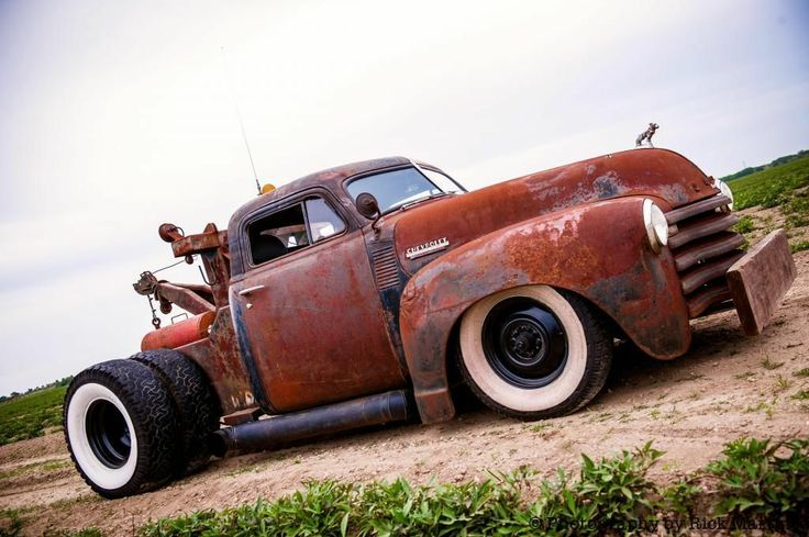 No Reserve Rat Rod Turbo Diesel Cummins Towe Truck Patina Truck   eBay
