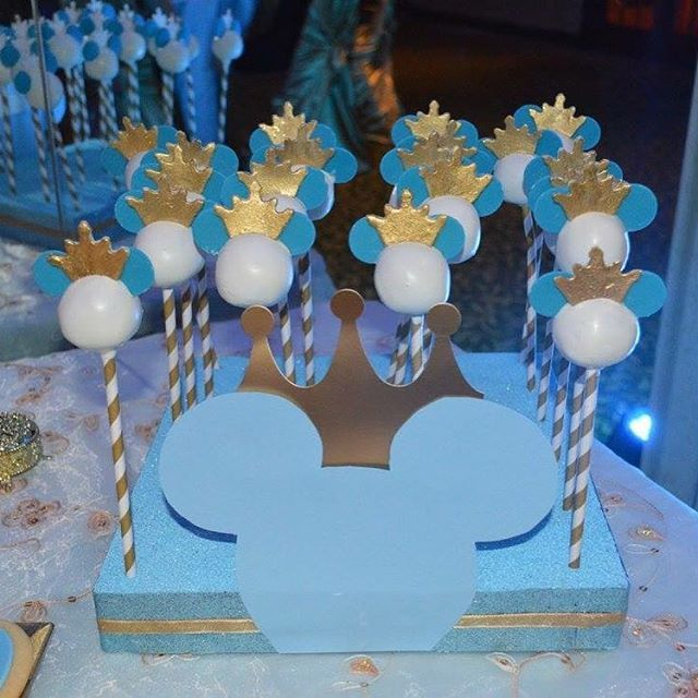 Prince Mickey cake pops #cakepops #princemickey #prince # ...